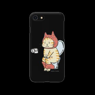 ほっかむねこ屋のといれねこ(オレンジ・茶トラ) Smartphone cases