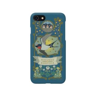 (iPhone6-6s-7-8-X-XS-XR)空飛ぶツバメ Smartphone cases