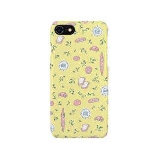 春のパン柄 〜イエロー〜 Smartphone cases
