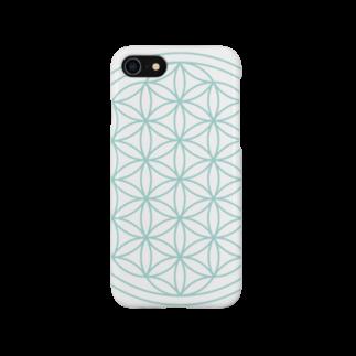 agehadouのフラワーオブライフ(aqua) Smartphone cases