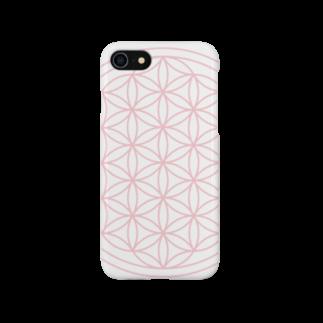 agehadouのフラワーオブライフ(sakura) Smartphone cases