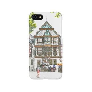 水彩風キリンガーハウス Smartphone cases