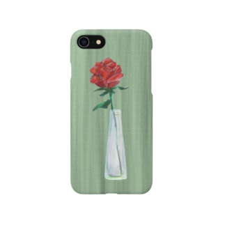 三角瓶と薔薇 Smartphone cases