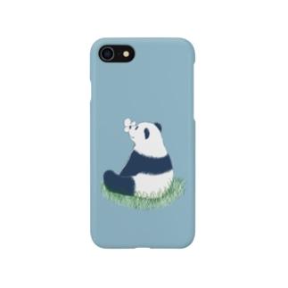 パンダとちょうちょ Smartphone Case