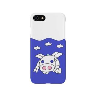 深海探査ロボ『ピッグボール海(かい)』(iPhoneケース版) Smartphone cases
