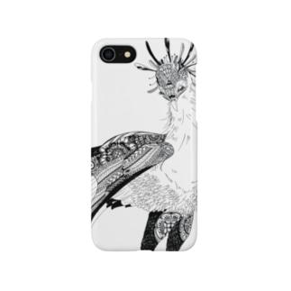 つかだ かおりのBotanical-Snake eagle Smartphone cases
