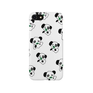ゆうれいパンダ総柄 Smartphone cases