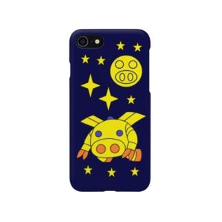 宇宙機動ロボ『ピッグボール宇宙(そら)』(iPhoneケース版) Smartphone cases