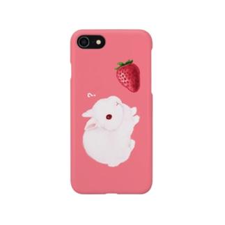大イチゴとこうさぎ Smartphone cases