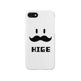 ヒゲHIGE(黒) Smartphone cases