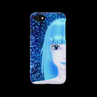 shimarch_mpの碧い瞳、青い世界 Smartphone cases