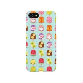 ひんやりアイスキャンディーとことり(アイスグリーン) Smartphone cases