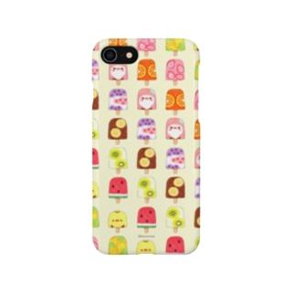 ひんやりアイスキャンディーとことり(バニラ) Smartphone cases