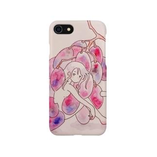 urupeiのおみせのurupei iPhoneケース [ぶどう] Smartphone cases