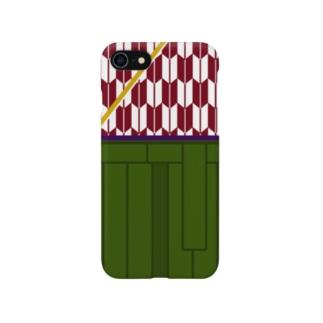 ハイカラさん(茜矢絣) Smartphone cases