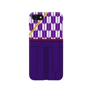 ハイカラさん(紫矢絣) Smartphone cases