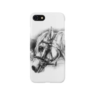 馬の絵スマホケース(明星) Smartphone cases