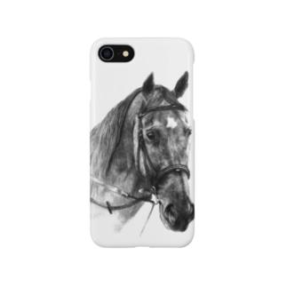 馬の絵スマホケース(間奏曲) Smartphone cases