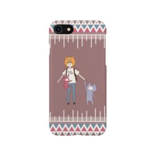ねこかぶり【Bタイプ】 Smartphone cases