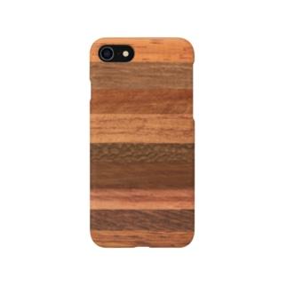 自然のオシャレな木目調デザイン Smartphone Case