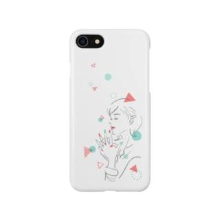 まる さんかく ネイル Smartphone cases