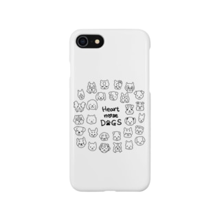 Heart nose DOGS(丸型) Smartphone cases
