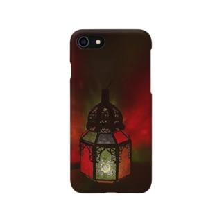 モロッコランプの温かみ Smartphone cases