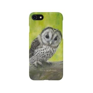 フクロウの巣立ちびな(★寄付) Smartphone cases