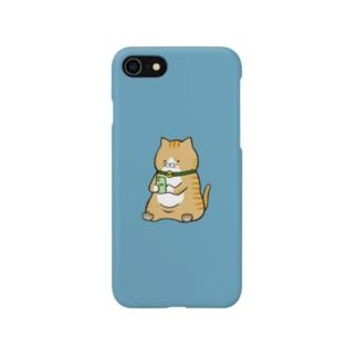 携帯依存症 トラ猫 Smartphone cases