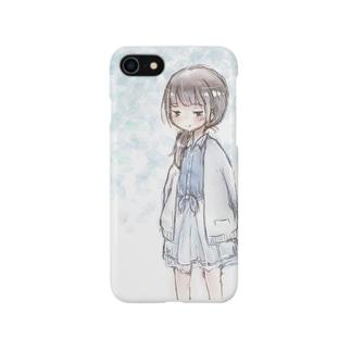 春に見かけた女の子 Smartphone cases