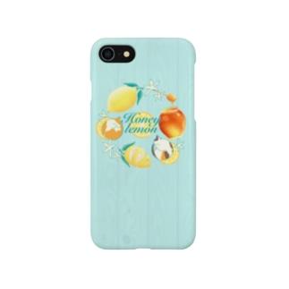 ねことはちみつレモン Smartphone cases