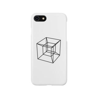 四次元超立方体 BLACK Smartphone cases