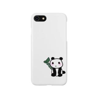 パンダのホワイト Smartphone cases