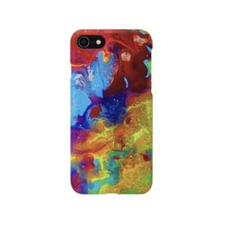 「虹色カオス」  Marble Smartphone cases