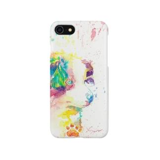 イヌ_dog.2_watercolor_smartphone Smartphone cases