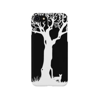猫と木 Smartphone cases