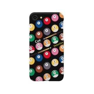 キュー探偵「K」スマホケース ブラック Smartphone cases