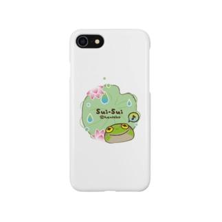 カエルのスイスイ 蓮 Smartphone cases