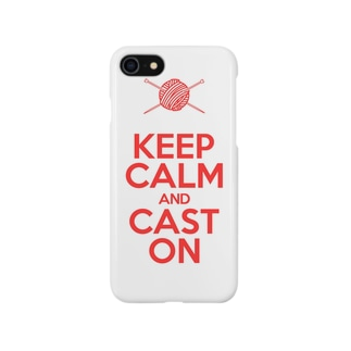 KEEP CALM AND CAST ON Smartphone cases
