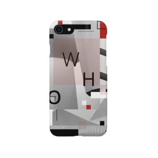 sizzleのTYPOGRAPHIC -不在- Smartphone cases