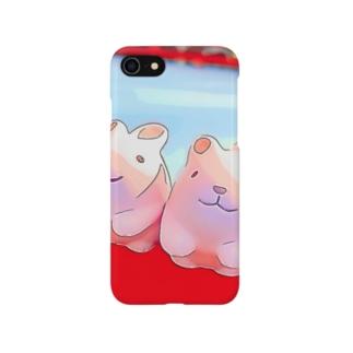 神社のうさぴょん Smartphone cases