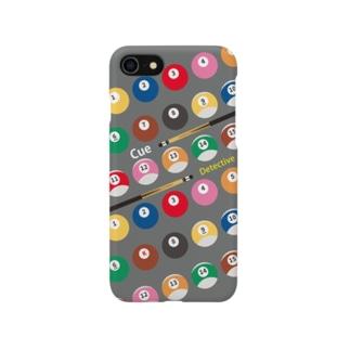 キュー探偵「K」スマホケース ver1グレー Smartphone cases