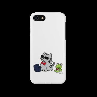 yama-onのグラ猫とカエルくん Smartphone cases