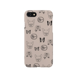 French bulldog pattern beige Smartphone cases