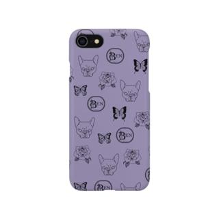French bulldog pattern gray purple Smartphone cases