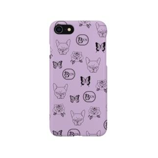 French bulldog pattern purple Smartphone cases