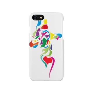 キリンのカラフルタトゥiphoneケース Smartphone cases