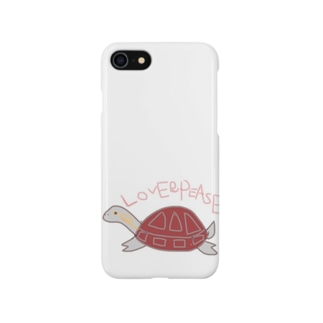 イシガメの花ちゃん Smartphone cases