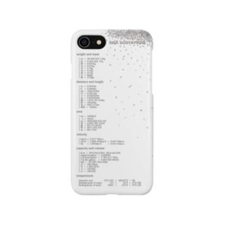 単位変換iPhoneケース(white) Smartphone cases
