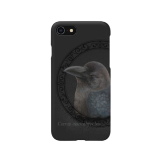 ハシブトガラス幼鳥(★寄付) Smartphone cases